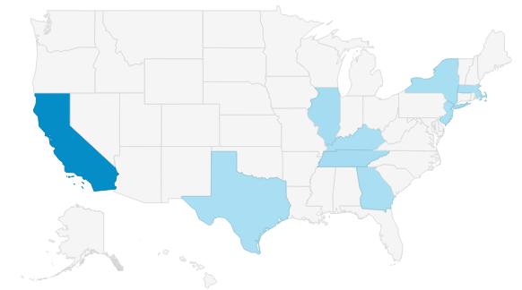 Geo Performance map